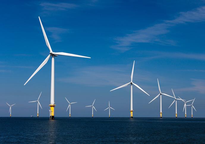 Windturbine-Windcentrale