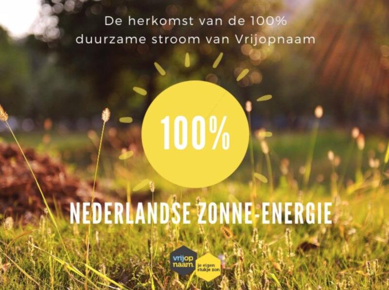 Vrijopnaam zonne energie
